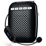 Zoweetek Mini Light Voice Amplifier with Wireless Microphone FM Stereo Radio Support U Disk/TPersonal Amplifier for Coach,Teachers,Speakers etc