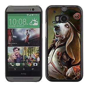 iKiki-Tech Estuche rígido para HTC One M8 - Funny Dog General