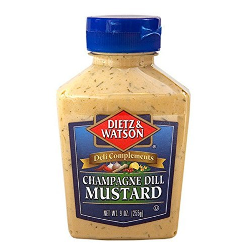 Compliments, Champagne Dill Mustard, 9oz Bottle (Pack of 2) ()