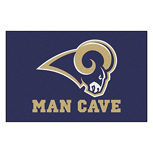 Louis Rams Floor Rug (FANMATS 14373 NFL St. Louis Rams Nylon Universal Man Cave Starter Rug)