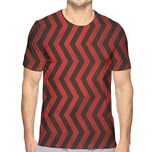 (Comfort Colors t Shirt Maroon,Chevron Zig Zag Stripes t Shirt XXL)