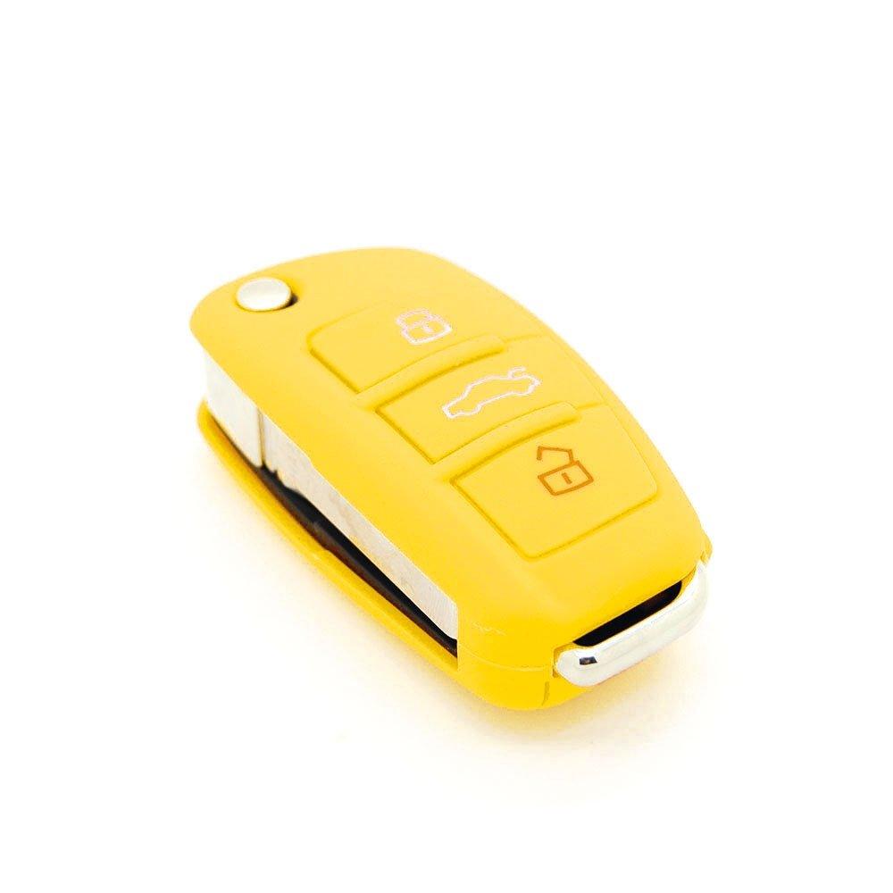 housse de cl/é en silicone pour Audi A1 A2 A3 A4 A5 3 boutons