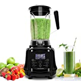 Professional Blender AIMORES, 75oz 3-in-1 Programmable Smoothie Juice Ice Cream Mixer, High Speed (28,000 rpm), Auto Clean & Timing, 6 SS Blades - ETL/FDA Approved - w/ Tamper & Recipe (Black)