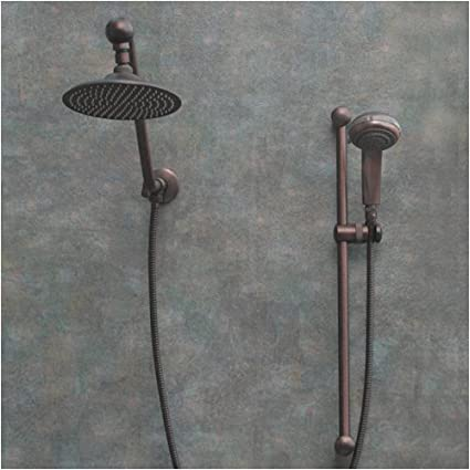 Beau Atlantis 7 Oil Rub Bronze Rain Shower Head With Handheld Showerhead