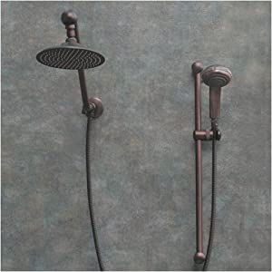 Atlantis 7 Oil Rub Bronze Rain Shower Head With Handheld
