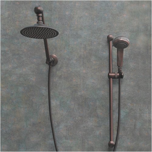 Atlantis 7 Oil Rub Bronze Rain Shower Head With Handheld Showerhead