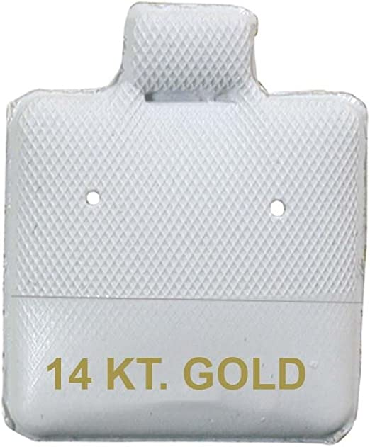 1.5 x 1.75 Puff Earring Cards Jewelry Display Pack of 100-14KT Gold Imprinted