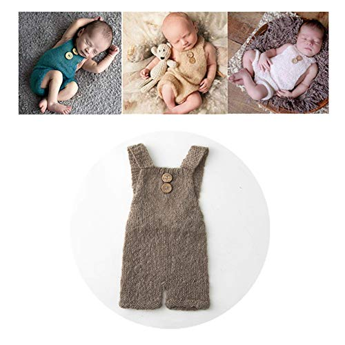 Vemonllas Luxury Fashion Unisex Newborn Baby Girl Boy Outfits Photography Props Rompers (Brown)