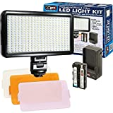 LED-300 Ultra-Slim Professional Photo & Video Light Kit for Canon - Nikon - Sony - Olympus - Panasonic - Pentax - FujiFilm - and Samsung Digital Cameras