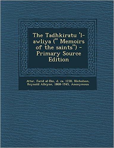 Book The Tadhkiratu 'l-awliya (