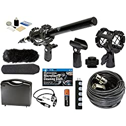Professional Advanced Broadcast Microphone and accessories Kit for Canon EOS DSLR 5D Mark II III 6D 7D 7D II 70D 60D T6s T6i T5i T4i T3i SL1 Cameras