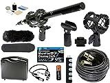 Professional Advanced Broadcast Microphone and accessories Kit for NIKON DSLR D5, D4S, D750, D810, D810a, D300s, D500, D610, D7100, D7200, D3300, D3200, D5300, D5500, D5600 Cameras