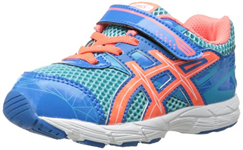 ASICS GT 1000 3 TS Running Shoe (Toddler),Turquoise/Hot Coral/Blue,7 M US Toddler