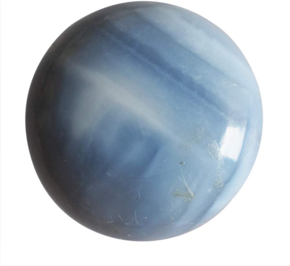Cabujón de forma redonda de ópalo azul natural, tamaño 18 x 18 x 6 mm, piedra colgante, AG-10923