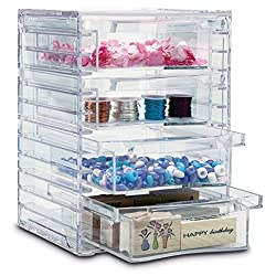 US Acrylic 4 Clear Removable Drawer Organizer