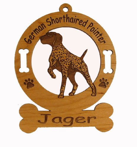 (3330 German Shorthaired Pointer Ornament Personalized with Your Dog's Name)