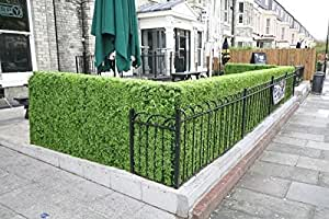 Porpora Artificial Milan Leaf Hedge Panel Wall Green Faux Fence Mat Fake Privacy