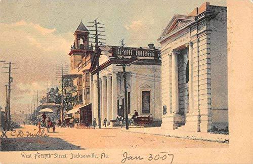 Jacksonville Florida West Forsyth Street Vintage Postcard JA4741313