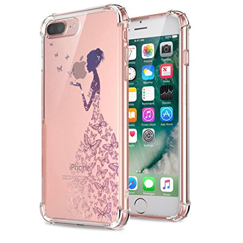 Price comparison product image Beryerbi iPhone 8 Plus Case Ultra Slim Transparent Anti-Scrape Air Cushion Technology Protective Cover for Apple 8 Plus (1, iPhone 8 Plus)