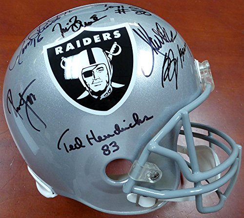 Oakland Raiders Greats Autographed Full Size Helmet With 15 Signatures Including Bo Jackson, Marcus Allen, Jerry Rice & Tim Brown Beckett - Jackson Autographed Helmet Bo