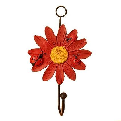 Zonman Vintage Metal y polirresina Art diseño de flores ...