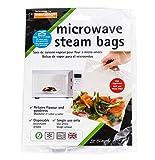 ziplock bags microwave - Set of 25 Quickasteam Microwave Steamer Bags, 2-Pack