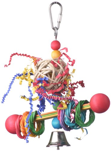 (Super Bird Creations 7-1/2 by 5-1/2-Inch Vine Ring Tweeter Totter Bird Toy, Small)