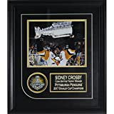 Sidney Crosby 2017 Stanley Cup Champions Signed Puck Collage W/ 8 Inches by 10 inches Stanley Cup Photo Frameworth Authenticated 87-737