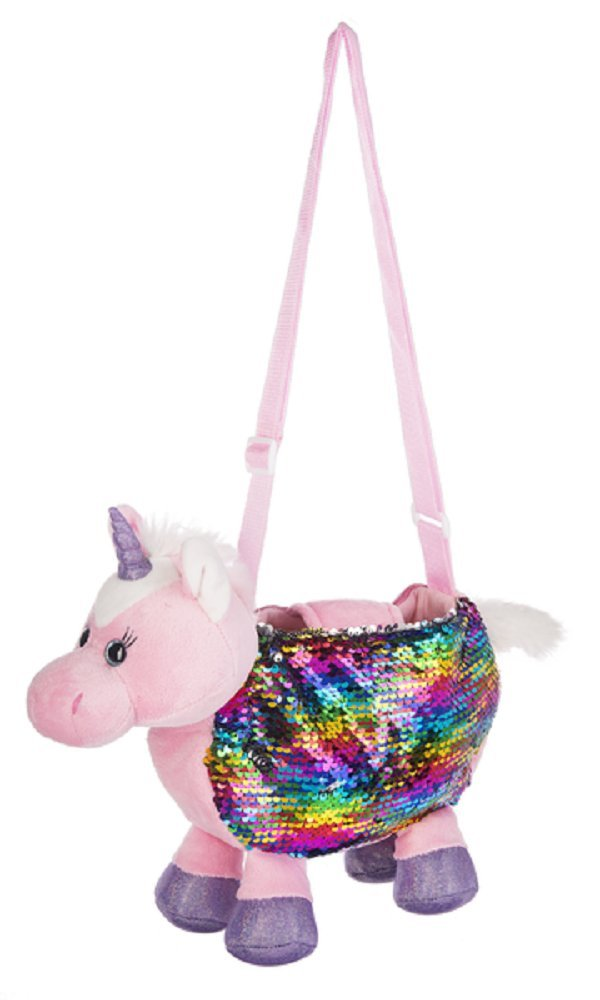 Ganz Baby Toddler Girl Sequin Purse 13 inches - Unicorn H14439