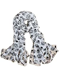 Womens Girls Scarf Vintage Pretty Gray Cat Scarfs Wrapping Chiffon Thin Throw Stole Hijab Soft
