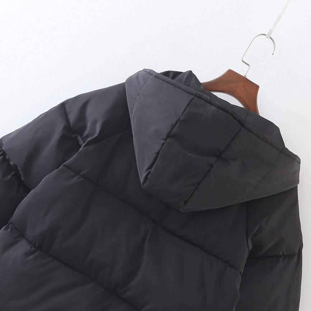 Abrigo de algodón, BBestseller Moda Sweatshirt Mujeres de Invierno Invierno cálido Abrigo sólido con Capucha Gruesa Chaqueta Larga Abrigo Largo Parka Ropa: ...
