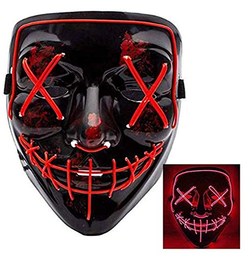 Halloween Mask LED Light Up Party Masks The Purge Election Year Great Funny Masks Festival Cosplay Costume Supplies Glow in Dark -