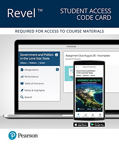 Revel for Government and Politics in the Lone Star State -- Access Card (10th Edition)