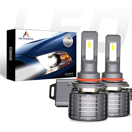 XENONFX LED Headlight Bulbs Conversion Kit - Automotive Headlamp 80W (One output power 40W) - External drive - 7600 Lumens - 12000K XENON White, Waterproof - 2 Years Warranty, 2 pack (9005(HB3))