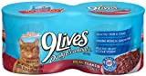 9 Lives Daily Essentials Real flaked Tuna in Sauce, 22-Ounces Packages (Pack of 6), My Pet Supplies