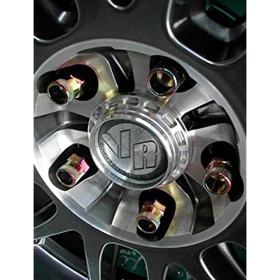 Muteki 32905N SR Series Neon Chrome 12mm x 1.25mm SR48 Open End Lug Nut Set, (Set of 20): Automotive