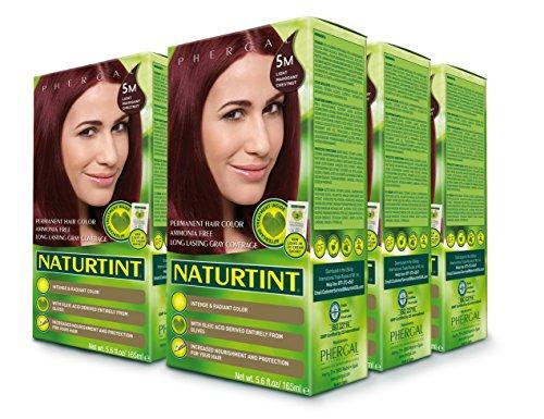 Naturtint Permanent Hair Color - 5M Light Mahogany Chestnut, 5.6 fl oz (6-pack) -