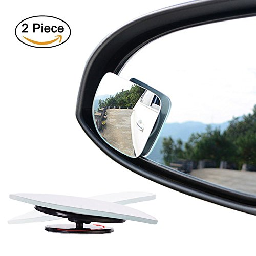 Glass Side Accessories Fan (Ertek Blind Spot Mirror for Cars, 2'' Flameless Square Fan Shape Glass Car Side Mirror for Truck Small Convex Wide Angle Rear View Car Mirrors(1 Pair, Right&Left))