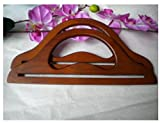 Ownstyle Hollow Out Carve Patterns Wood Purse Handle 2 Pcs