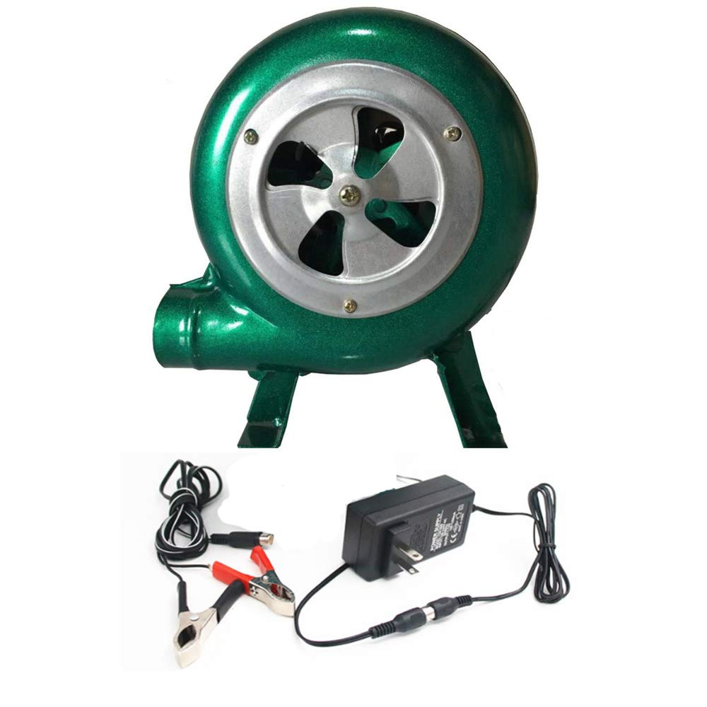 Dual BBQ Blower Charcoal Chimney Starter BBQ Fan, Smoker Fan,Electric Blower Starter for Charcoal,AC & DC Power Cord Included