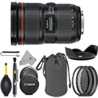 Canon EF 24-70mm f/2.8L II USM Lens 5175B002 USA Full Accessory Bundle Package Deal