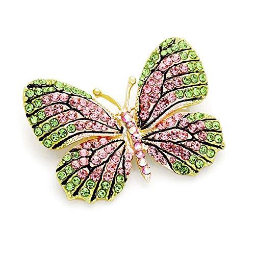 Joji Boutique Pastel Butterfly Crystal Pin ()