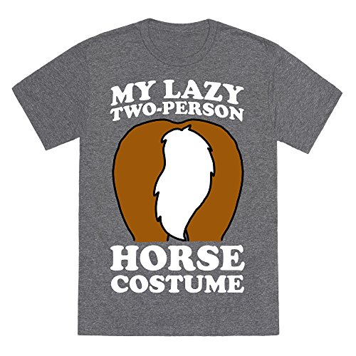 My Lazy Two-Person Horse Costume (Butt) Heathered Gray XL Mens/Unisex Fitted Triblend Tee by LookHUMAN