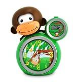 BabyZoo MoMo Monkey Sleep Trainer Clock - Green