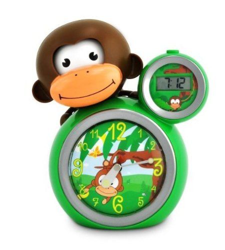 BabyZoo MoMo Monkey Sleep Trainer Clock - Green