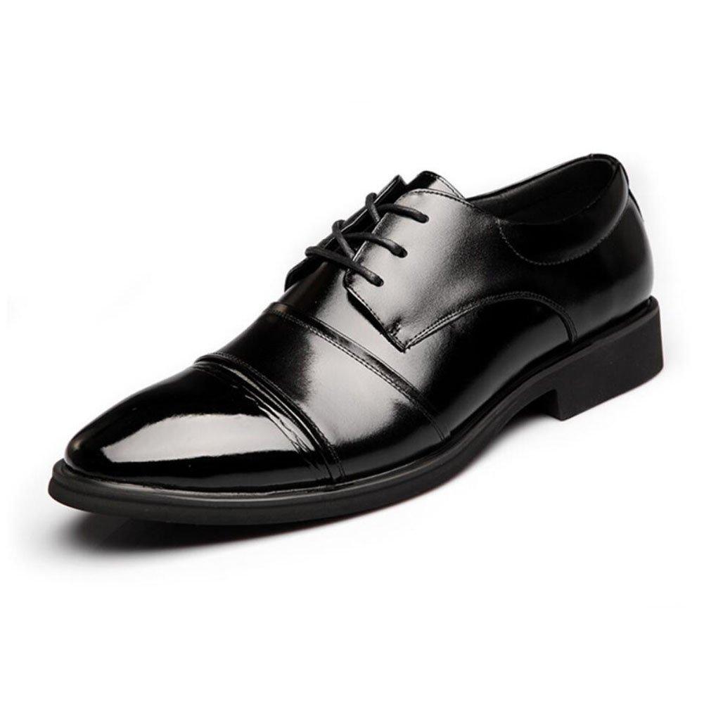 CAI Formale Schuhe der Männer 2018 Vierjahreszeiten-Geschäft wies die  Herren-Schuhe niedrig - Spitzenleder-Schuhe/Breathable Schuhe Büro/Partei-Kleid-Schuhe (Farbe : Schwarz, Größe : 42)