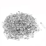Dealglad 1000 Pcs Exquisite Small 19mm Metal Clothing Accessories Trimming Fastening Safety Pins (Black)