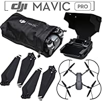 DJI Mavic Pro Accessory Kit - Includes DJI Soft Aircraft Sleeve + 2 Sets of DJI 8330 Quick Release 8330 Folding Propellers + DJI Propeller Guards + DJI Remote Hood / Sunshade + eDig Microfiber Cloth