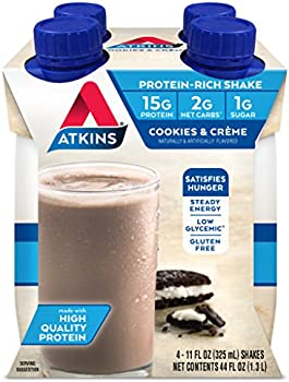 Atkins Ready To Drink Shake 15g Protein 4 Count