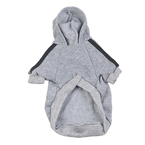 ZhiDa Pet Clothes Adidog Hoodie for Dog Cat Puppy Hoodies Coat Spring Autumn Sweatshirt Sports Coat Jacket Costumes Sweater (XL, Gray) (Italian Greyhound Dog Sweaters compare prices)